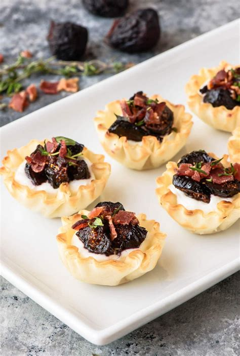 Double it if you plan on making a lattice top or decorative edge. Easy Mini Fig Goat Cheese Bacon Bites in Phyllo Dough. Premade phyllo dough cups make this the ...