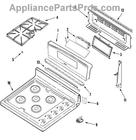 Parts For Jenn Air Jdraab Control Panel Top