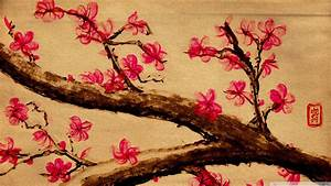 Download Cherry Blossom Painting Wallpaper 1920x1080 ...