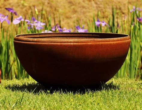Industrial Metal Planter 37 Large Fire Pit Or Planter