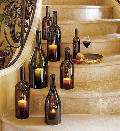 diy wine bottle diy wine bottle candle holder decoist
