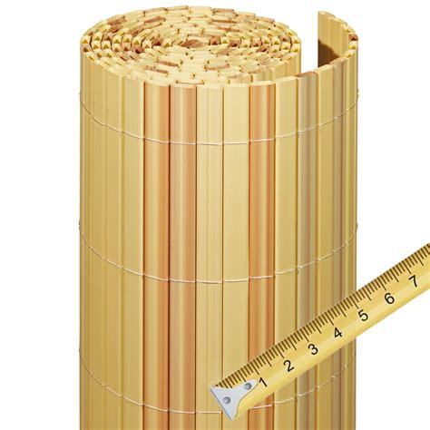 Garten Sichtschutz Kunststoff by Sichtschutzzaun Pvc Kunststoff Meterware R 252 Bambus