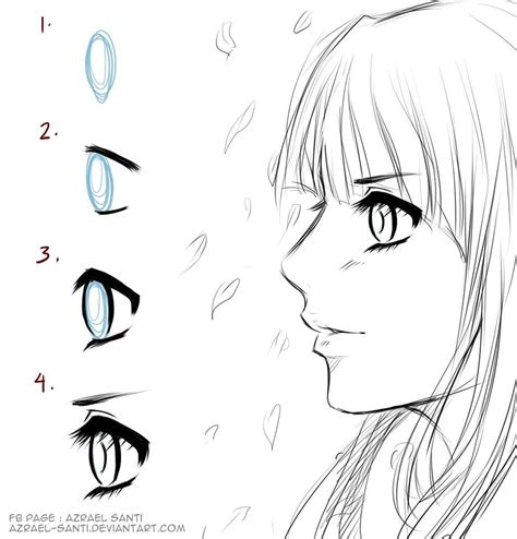 Anime Eyes From The Side Anime Eyes In Side View Byazrael Santi How To Draw