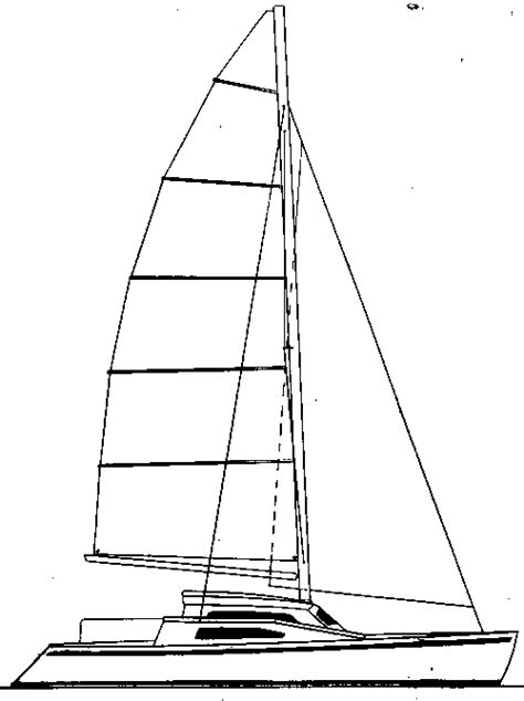 Catamaran Drawing by New Catamaran Designs By Woods Designs