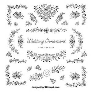 luxury wedding invitations decoration for wedding vector free