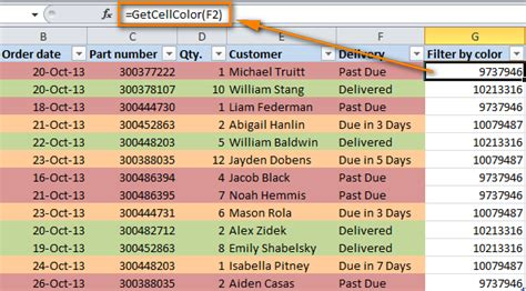 how to color code in excel how to filter and sort cells by color in excel 2016 2013