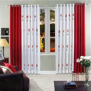 wohnzimmer gardinen mit balkontã r gardinen vorhänge wohnzimmer weiß rot mit blumen motiv cbsundstrom