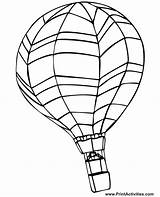 Balloon Coloring Air Printable Horizontal Much sketch template