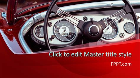 classic car powerpoint template  powerpoint