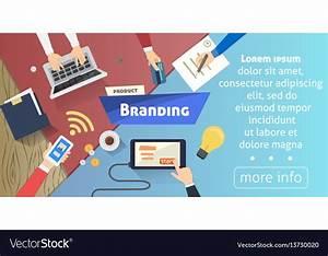 Branding concept creative idea digital marketing Vector Image