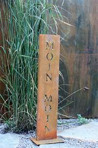 Deko Schriftzug Holz : schriftzug moin moin edelrostshop ~ Eleganceandgraceweddings.com Haus und Dekorationen