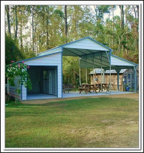 Carport With Storage Shed by Carport With Storage Shed Attached Illbedead
