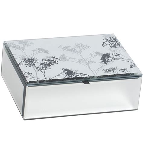 mirrored glass jewelry box mirrored glass jewelry box botanical in jewelry boxes 7534