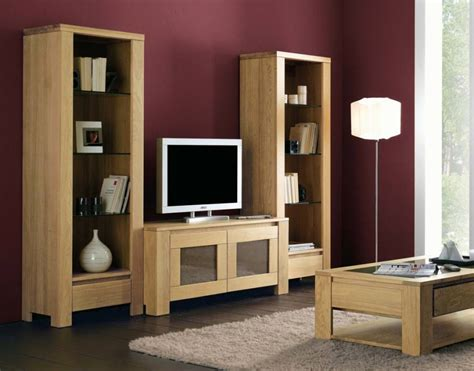 meuble tv en chene massif de style contemporain meuble