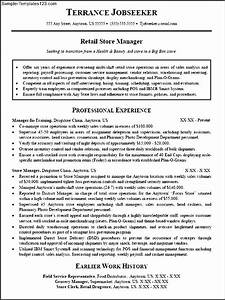 Retail Management Resume Sample Templates Sample Templates