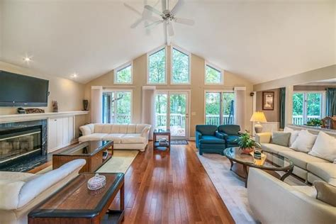 vaulted ceilings highlight  open floor plan