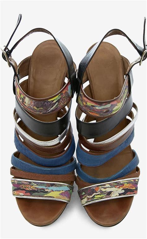 multi color strappy heels multi color strappy heels shoes