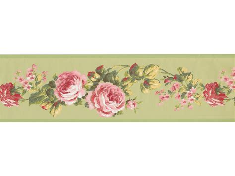 Wallpaper Border by Garden Borders Pink Floral Wallpaper Border