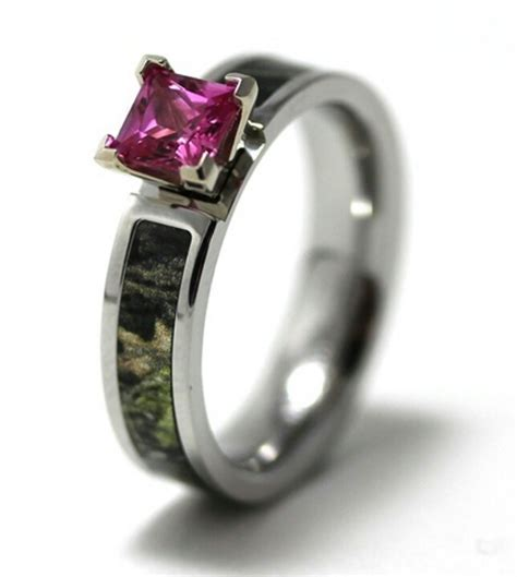pink camo wedding rings camo engagement ring with pink camo wedding rings