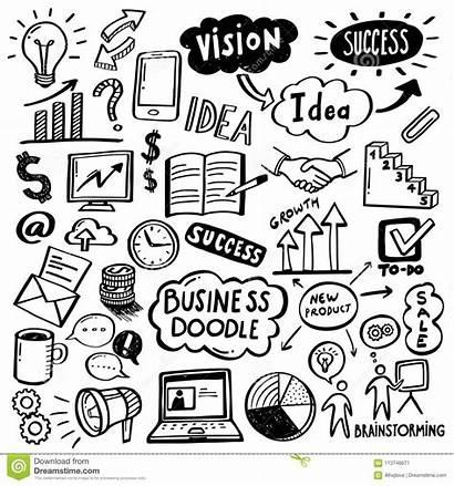 Business Doodles Process Creative Plan Vector Challenge