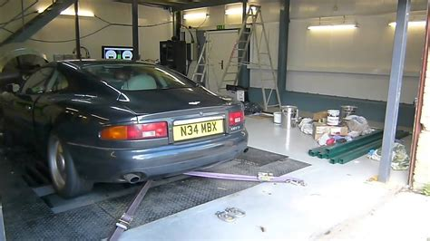 aston martin db rolling road exhaust noise youtube