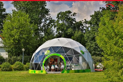 Branding of geodesic dome tents