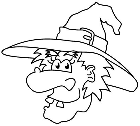 witch coloring pages    print