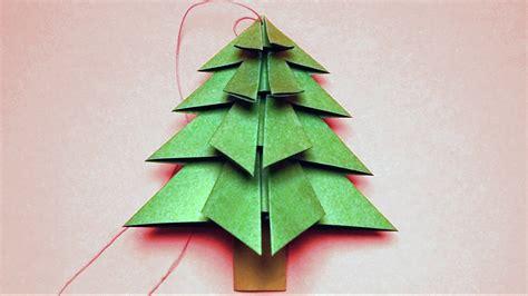 basteln fuer weihnachten tannenbaum falten youtube