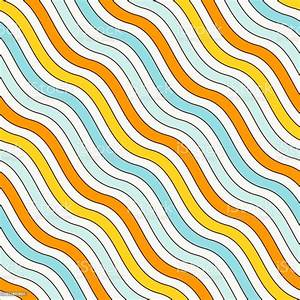Blue, And, Yellow, Colors, Diagonal, Wavy, Stripes, Seamless, Pattern, Repeated, Line, Wallpaper, Simple