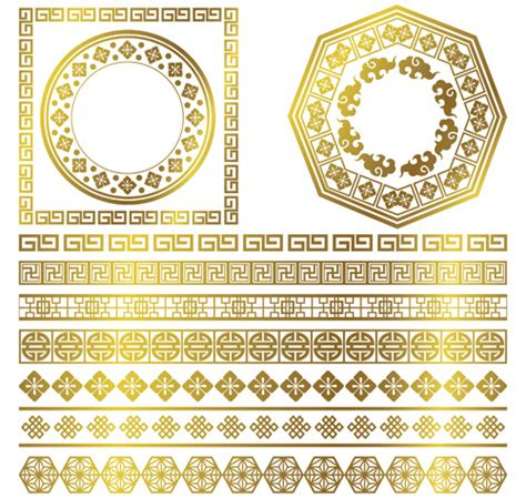 golden frame  ornaments border vector