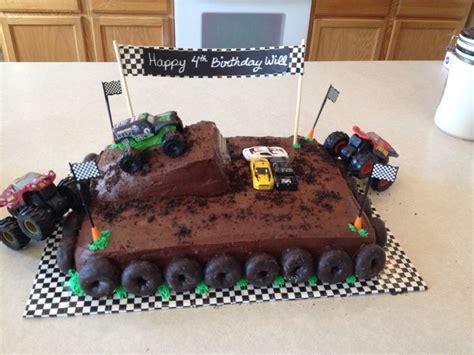 monster truck cakes ideas  pinterest