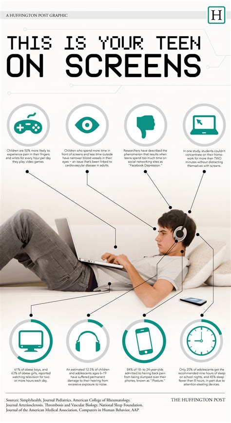 teens  screens infographic  learning infographics