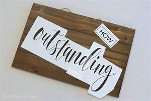 simply made painted wooden sign simply real moms With wood sign making templates