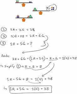 Color Balance Math Puzzle (SOLUTION) | Puzzles | Math Easy ...