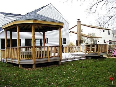 deck with gazebo low to grade decks columbus decks porches and patios by