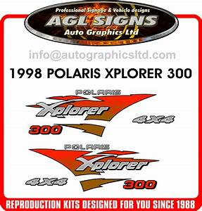 1998 Polaris Xplorer   Atv 300 4x4 Decal Set  Reproduction