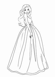 Cartoon Barbie Coloring Page - Coloring Home