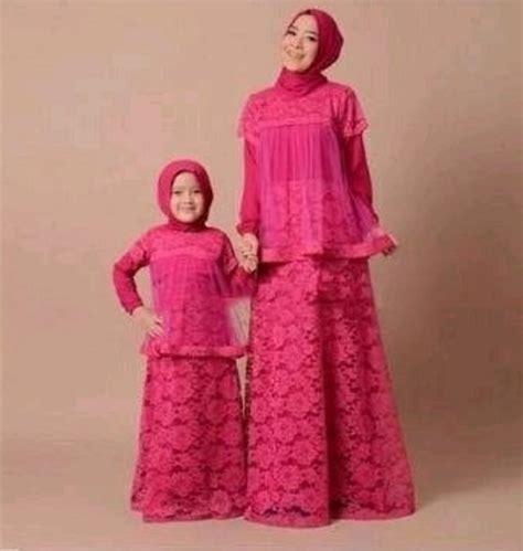 koleksi model baju gamis couple ibu  anak terbaru