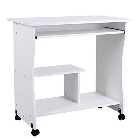 bureau sur roulettes pour ordinateur songmics bureau informatique roulant table informatique
