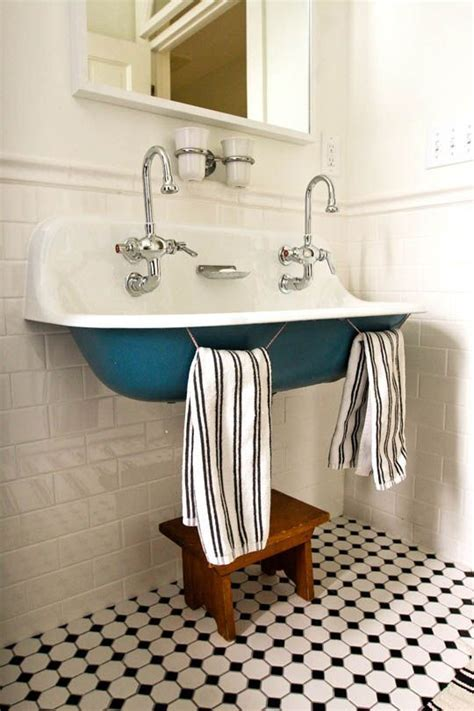 kohler brockway double sink teal tile a place to live