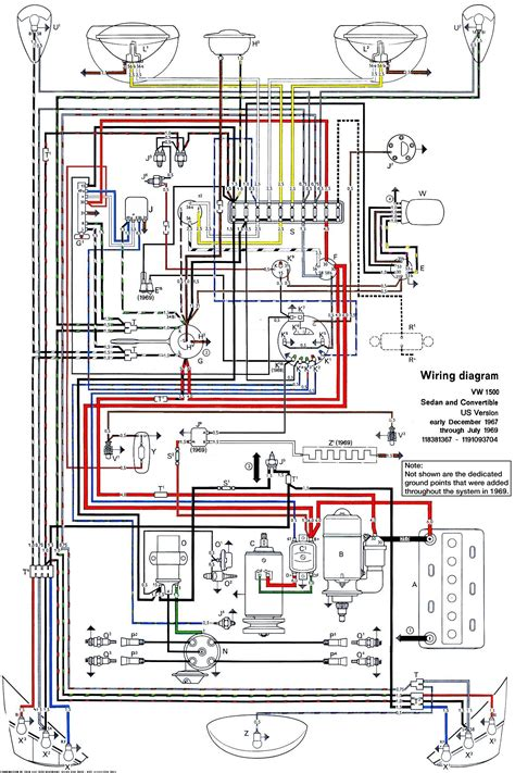 Volkswagen Wiring For 1969 by Wiring Diagram For 1969 Vw Beetle Wiring Diagram