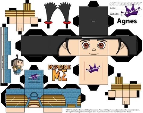 Free Cubeecraft Of Agnes From Despicable Me