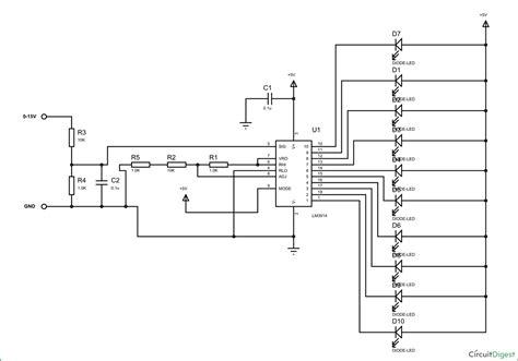 lm3914 voltmeter circuit diagram