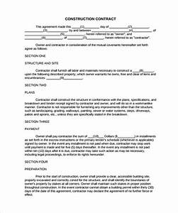 construction contract 9 download documents in pdf With house building contract template