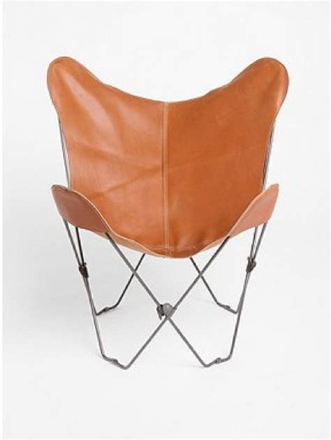 the leather butterfly chair from outfitters