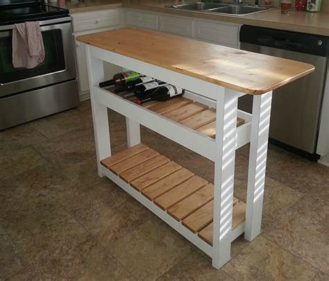 how to build a movable kitchen island diy kitchen island with wine rack step by step