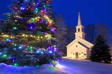 england village christmas scene marlow nh photograph