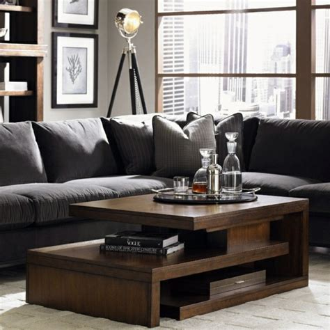 living room tables a wooden coffee table in the living room adds warmth and