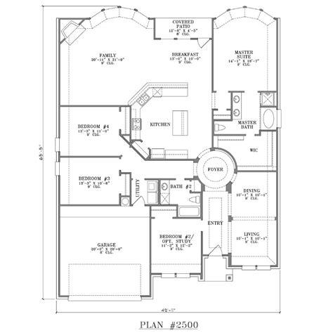 custom 1 story plan plan 2500