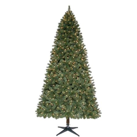 home accents 9 ft pre lit wesley spruce